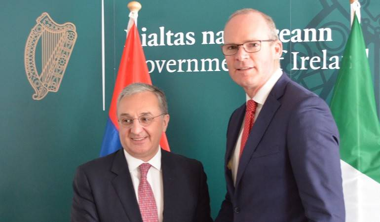 Zohrab Mnatsakanyan met with the Minister for Foreign Affairs of Ireland
