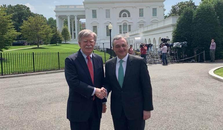 Встреча Министра иностранных дел РА Зограба Мнацаканяна с советником президента США по национальной безопасности Джоном Болтоном