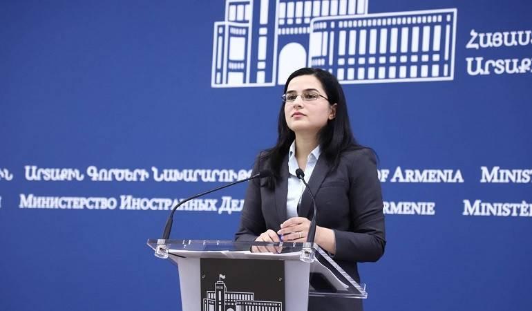 Комментарий пресс-секретаря МИД Армении Анны Нагдалян относительно последнего заявления главы МИД Азербайджана
