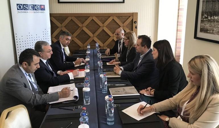 Meeting of the Foreign Ministers of Armenia and Serbia
