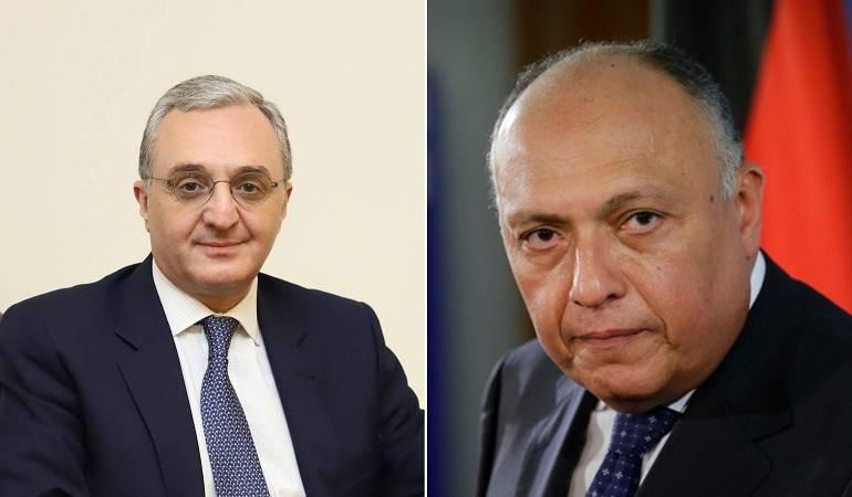 Entretien téléphonique entre le ministre des Affaires étrangères d'Arménie et son homologue égyptien