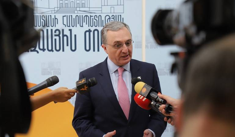Foreign Minister Zohrab Mnatsakanyan's briefing with journalists after the meeting of the participants of the Annual Conference of MFA Apparatus and Heads of Diplomatic Service Abroad in the National Assembly