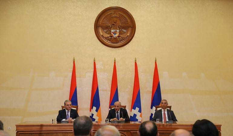 The meeting of participants of the Annual Conference of MFA Apparatus and Heads of Diplomatic Service Аbroad with Bako Sahakyan, the president of Artsakh