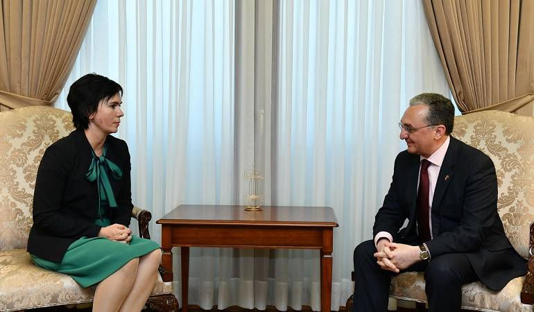 Foreign Minister Zohrab Mnatsakayan received Inga Stanytė-Toločkienė, the newly appointed Ambassador of Lithuania