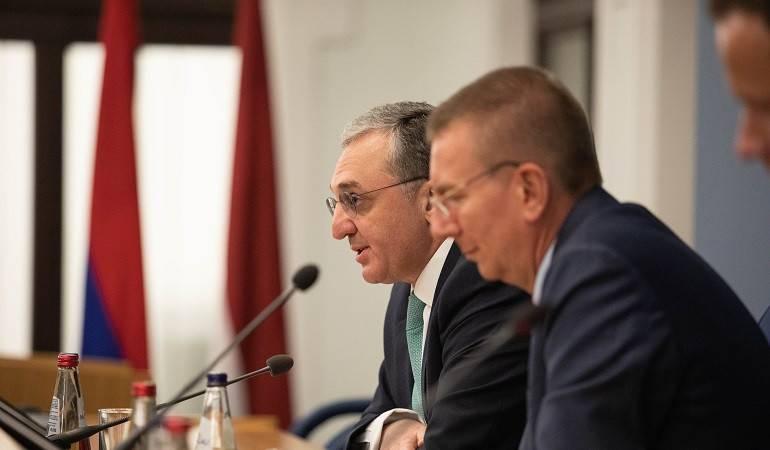 ԱԳ նախարար Զոհրաբ Մնացականյանի խոսքը Լատվիայի ԱԳ նախարար էդգարս Ռինկևիչսի հետ համատեղ մամուլի ասուլիսին