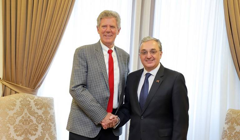 Foreign Minister Zohrab Mnatsakanyan received US Congressman Frank Pallone, the Co-Chair of the Congressional Caucus on Armenian Issues