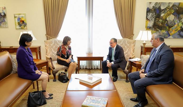 Meeting of Foreign Minister Zohrab Mnatsakanyan with Jackie Speier and Judy Chu, the US Congress members