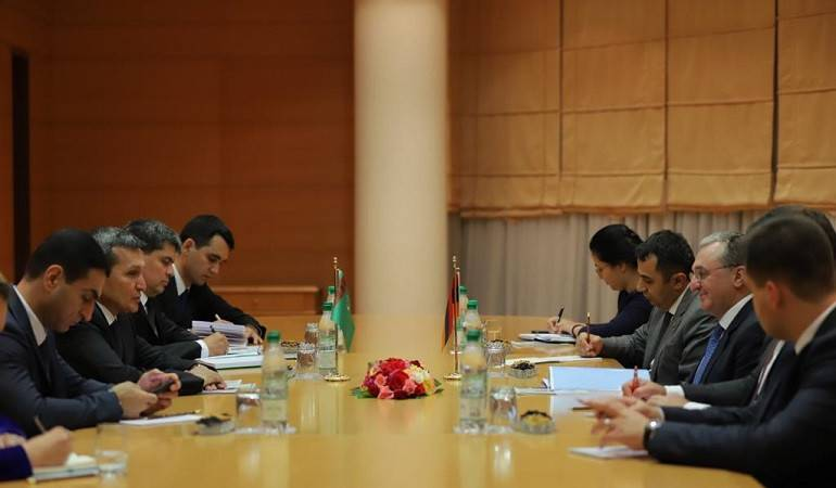 Հայաստանի և Թուրքմենստանի ԱԳ  նախարարների հանդիպումը