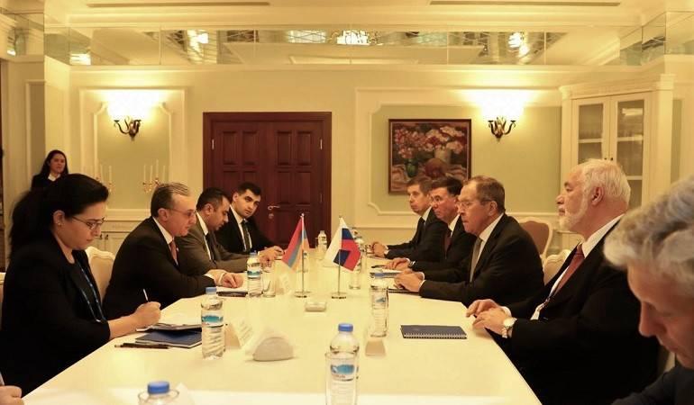 Հայաստանի ԱԳ նախարար Զոհրաբ Մնացականյանի հանդիպումը Ռուսաստանի ԱԳ նախարար Սերգեյ Լավրովի հետ