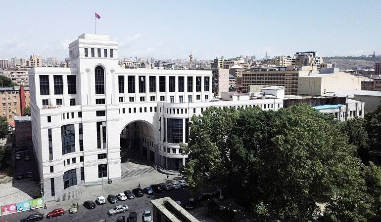 Statement of MFA of Armenia on the adoption of Resolution 296 affirming the US record on the Armenian Genocide by US House of Representatives