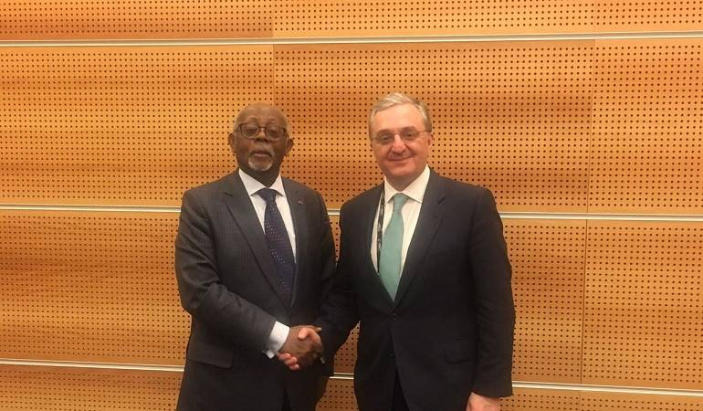 Foreign Minister Zohrab Mnatsakanyan's meeting with the Foreign Minister of Cameroon, Lejeune Mbella Mbella