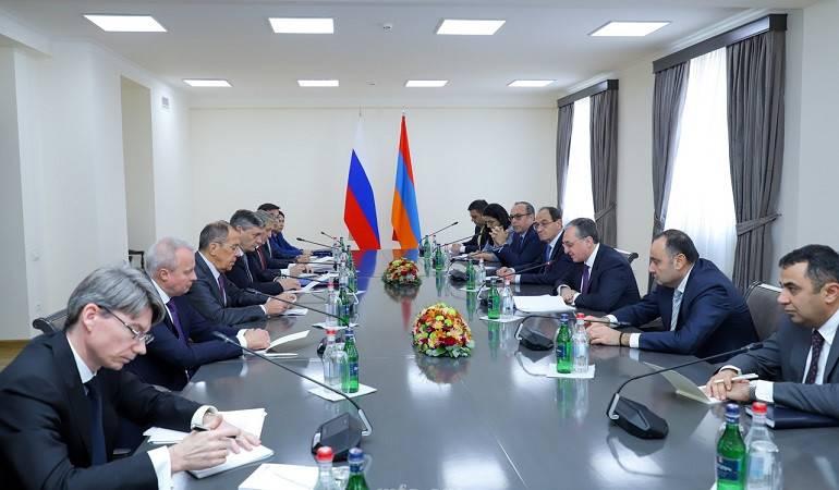 ԱԳ նախարար Զոհրաբ Մնացականյանի հանդիպումը Ռուսաստանի Դաշնության ԱԳ նախարար Սերգեյ Լավրովի հետ
