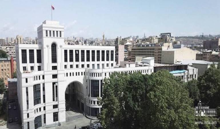 Déclaration du ministère des Affaires étrangères d'Arménie sur l'incident survenu sur la ligne de contact