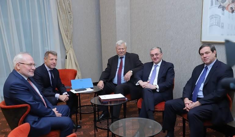 Встреча министра иностранных дел Мнацаканяна с сопредседателями Минской группы ОБСЕ