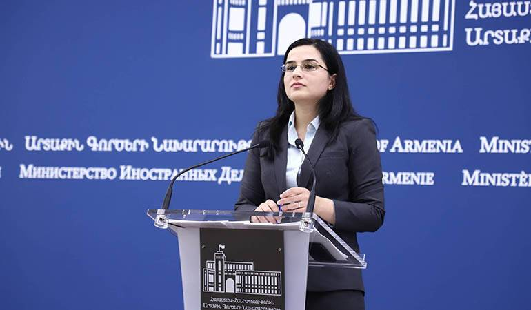 """Responses by Anna Naghdalyan, the Spokesperson of the Foreign Ministry of Armenia, to the questions of the """"News.am"""" news agency"""