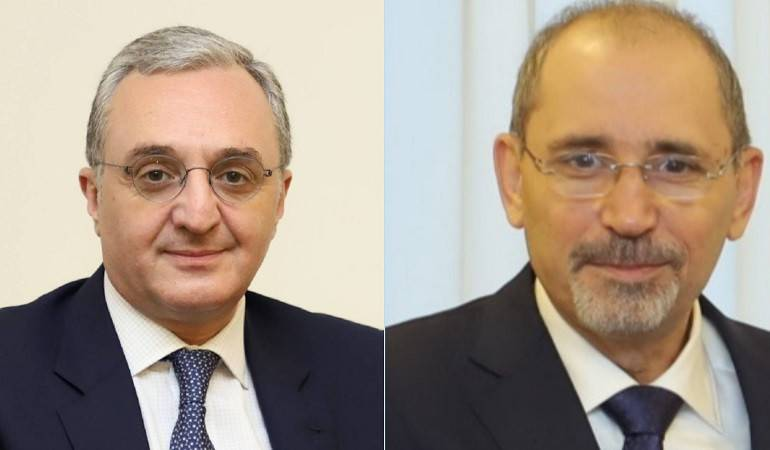 Foreign Minister of Armenia Zohrab Mnatsakanyan had a phone conversation with Ayman Safadi, Minister of Foreign Affairs and Expatriates of Jordan