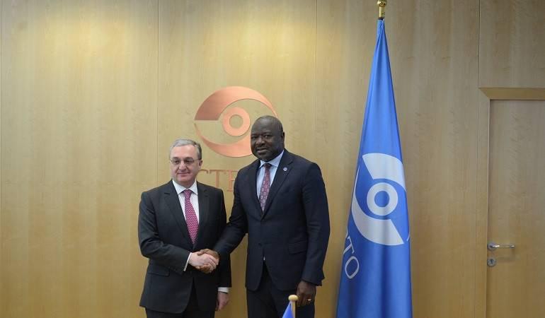 Встреча Министра иностранных дел Зограба Мнацаканяна с Исполнительным секретарем Организации Договора о всеобъемлющем запрещении ядерных испытаний  Лассиной Зербо
