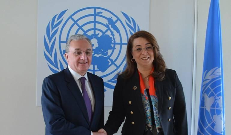 Встреча Министра иностранных дел Армении Зограба Мнацаканяна с заместителем Генерального секретаря ООН, Исполнительным директором Управления ООН по наркотикам и преступности