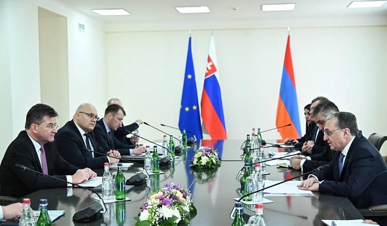Հայաստանի  և Սլովակիայի ԱԳ նախարարների հանդիպումը