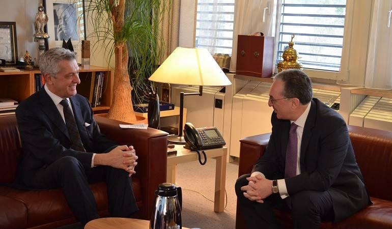 ԱԳ նախարար Զոհրաբ Մնացականյանի հանդիպումը ՄԱԿ Փախստականների հարցերով գերագույն հանձնակատար Ֆիլիպո Գրանդիի հետ