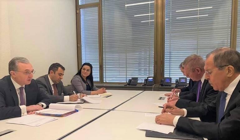 ԱԳ նախարար Զոհրաբ Մնացականյանի հանդիպումը ՌԴ ԱԳ նախարար Սերգեյ Լավրովի հետ