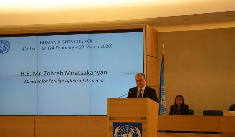 ԱԳ նախարար Զոհրաբ Մնացականյանի ելույթը ՄԱԿ Մարդու իրավունքների խորհրդի 43-րդ նիստին