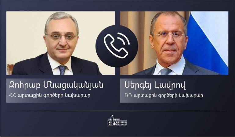 Foreign Minister Zohrab Mnatsakanyan's phone conversation with Foreign Minister of Russian Federation Sergey Lavrov