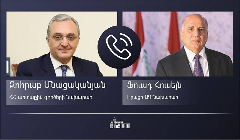 Phone conversation of Foreign Ministers of Armenia And Iraq