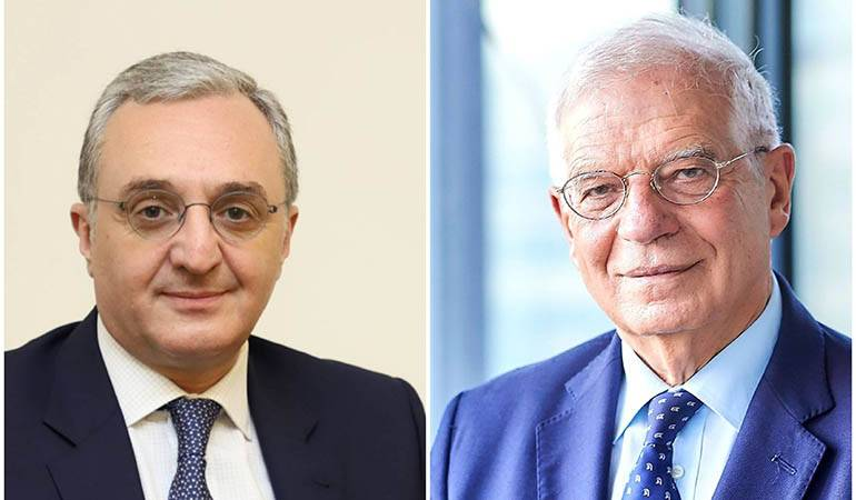 Entretien téléphonique entre le ministre des Affaires étrangères d'Arménie et le haut représentant de l'UE pour les affaires étrangères et la politique de sécurité