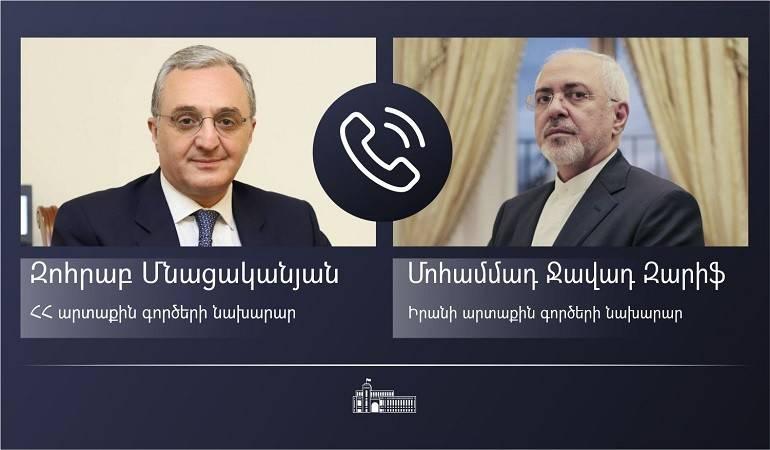 Entretien téléphonique entre Zohrab Mnatsakanyan et Mohammad Javad Zarif