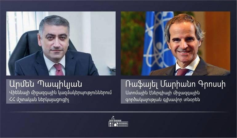 Meeting of Ambassador Armen Papikyan with Director General of the International Atomic Energy Agency Rafael Mariano Grossi