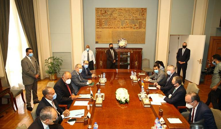 Foreign Minister of the Republic of Armenia Zohrab Mnatsakanyan met with the Foreign Minister of Egypt Sameh Shoukry