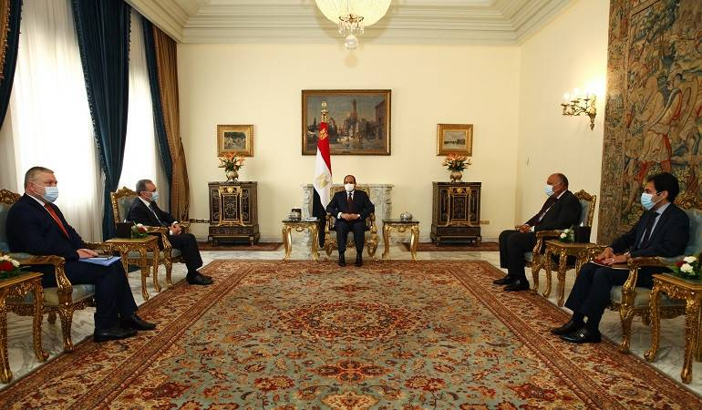 Foreign Minister Zohrab Mnatsakanyan had a meeting with the President of Egypt