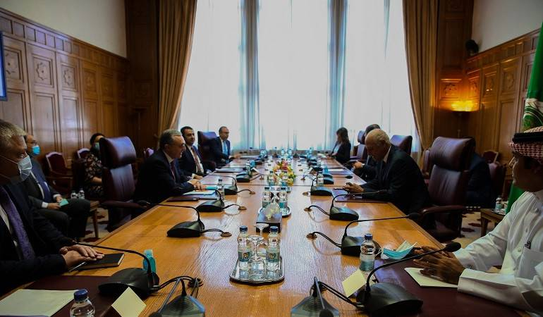 Meeting of Foreign Minister Zohrab Mnatsakanyan with Ahmed Aboul Gheit, the Secretary General of the League of Arab States