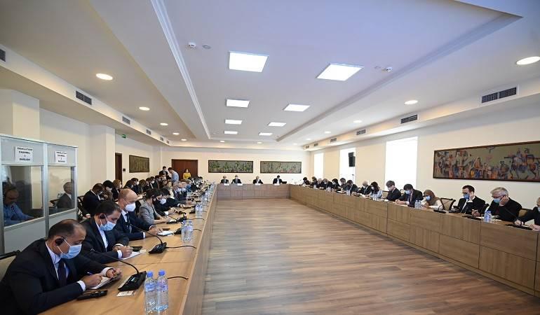 Встреча с главами аккредитованных в Армении дипломатических представительств и представителями международных структур о последствиях широкомасштабной агрессии Азербайджана против Арцаха