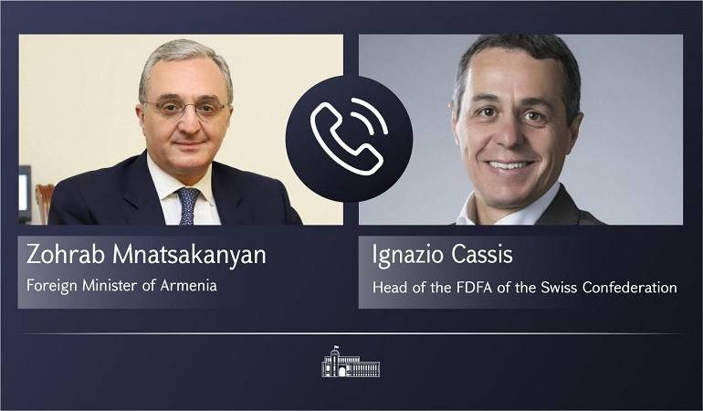 Phone conversation  of Foreign Minister of Armenia Zohrab Mnatsakanyan with the Head of the Swiss Federal Department of Foreign Affairs, Federal Councillor Ignazio Cassis