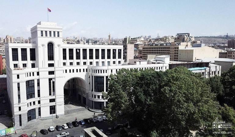 Déclaration du Ministère des affaires étrangères de la République d'Arménie sur le bombardement par l'Azerbaïdjan de Stepanakert, la capitale de la République d'Artsakh et de la ville de Chouchi