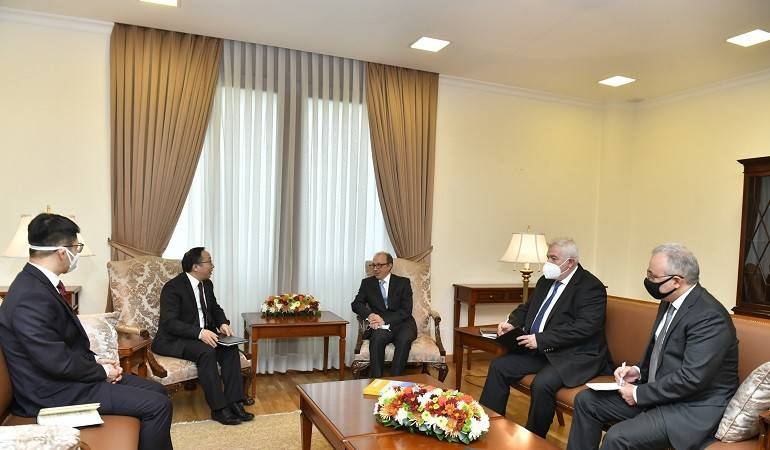 Foreign Minister Ara Aivazian received the newly appointed Ambassador of China Fan Yong