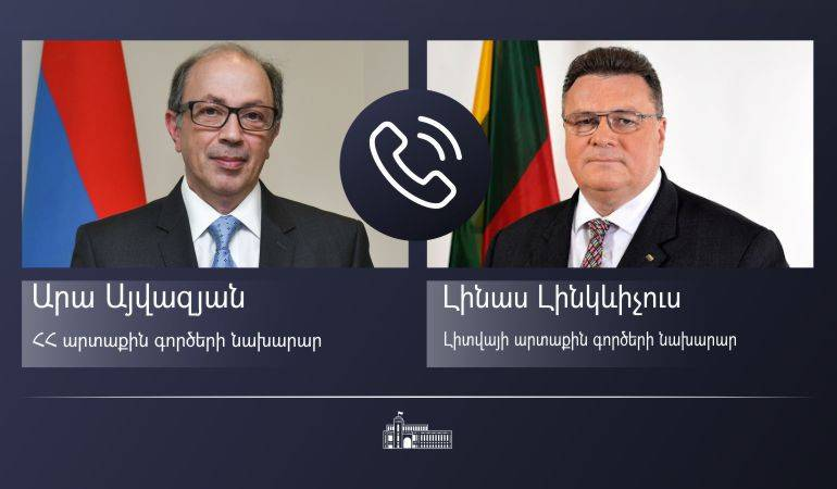 Phone conversation of the Foreign Minister Ara Aivazian with the Foreign Minister of Lithuania Linas Linkevičius