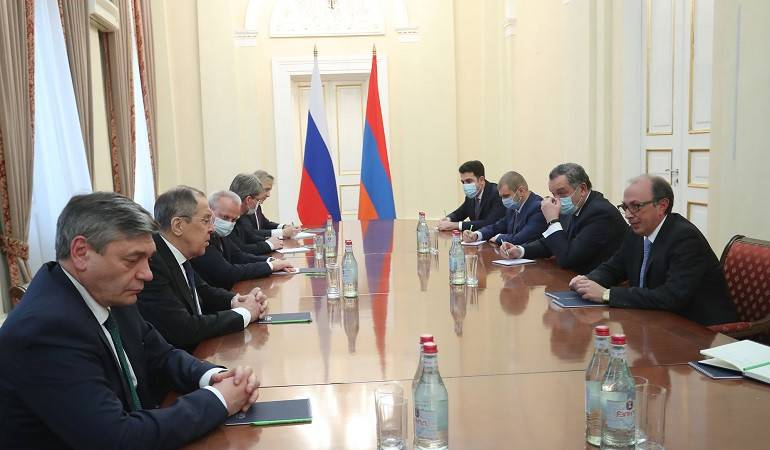 Meeting of the Foreign Minister Ara Aivazian with the Foreign Minister of Russian Federation Sergey Lavrov