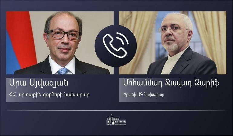 ԱԳ նախարար Արա Այվազյանի հեռախոսազրույցը Իրանի ԱԳ նախարար Մոհամմադ Ջավադ Զարիֆի հետ