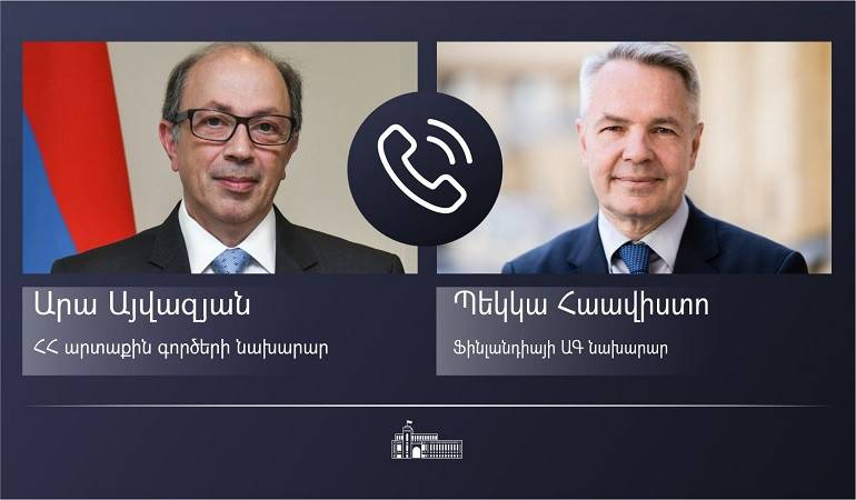 Telephone conversation of Foreign Minister Ara Aivazian with Foreign Minister of Finland Pekka Haavisto