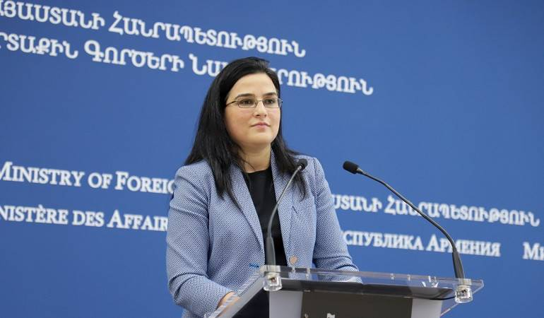 Answer by the Foreign Ministry Spokesperson Anna Naghdalyan to the question of news agencies