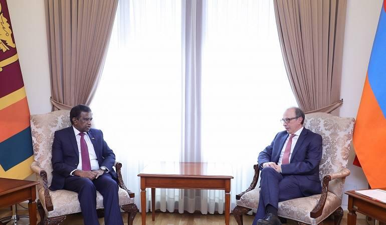 Foreign Minister of Armenia Ara Aivazian received the Ambassador of Sri Lanka