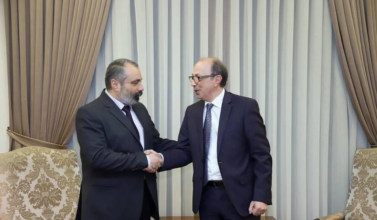 Foreign Minister of Armenia Ara Aivazian met with Foreign Minister of Artsakh Davit Babayan