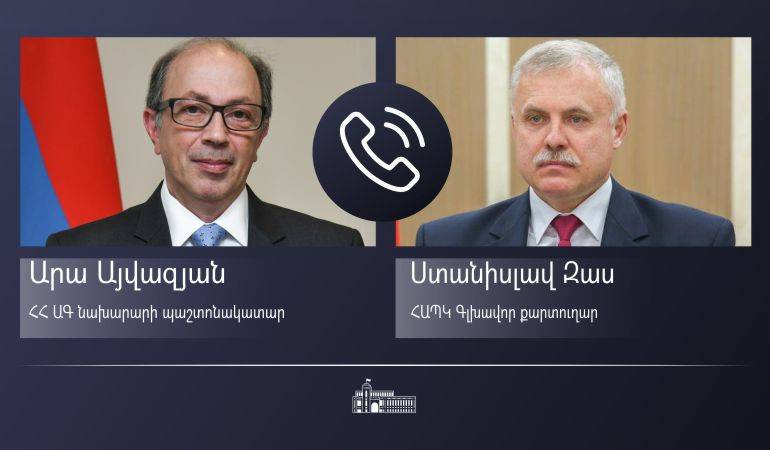 Phone conversation of Acting Minister of Foreign Affairs Ara Aivazian with CSTO Secretary General Stanislav Zas