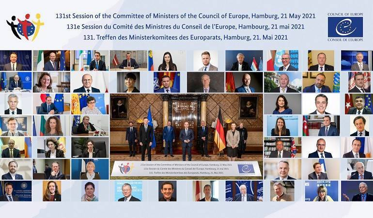 Acting Foreign Minister of Armenia Ara Aivazian participated and made a speech at the 131st online Session of the Committee of Ministers of the Council of Europe