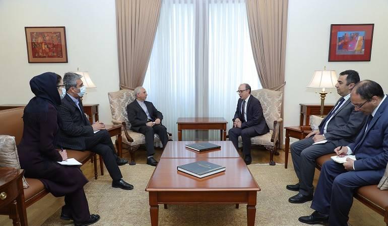 Встреча исполняющего обязанности министра иностранных дел Армении Ара Айвазяна с послом Ирана в Армении Аббасом Бадахшаном Зохури