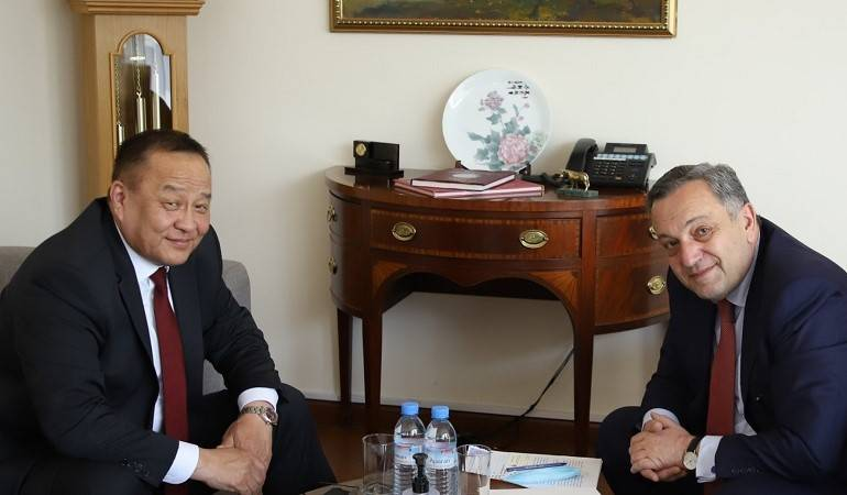 The newly appointed Ambassador of Mongolia presented the copy of his credentials to the Deputy Foreign Minister
