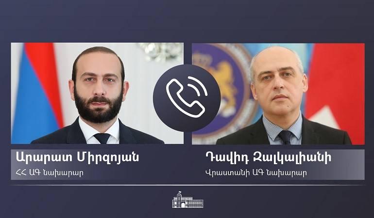 ՀՀ ԱԳ նախարար Արարատ Միրզոյանը հեռախոսազրույց է ունեցել Վրաստանի ԱԳ նախարար Դավիդ Զալկալիանիի հետ